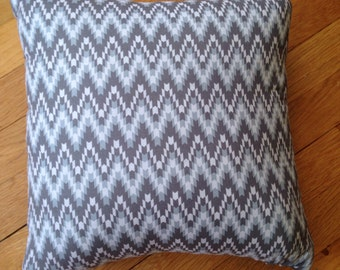 Grey Chevron Throw Pillow