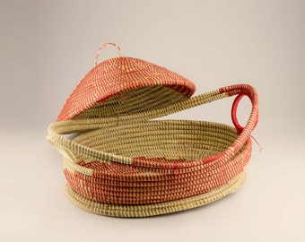Red decorative basket