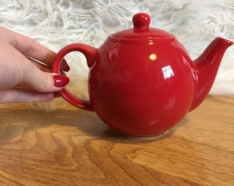 Small Red Teapot
