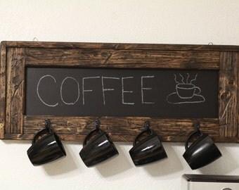 Rustic Coffee Cup Chalkboard, Coffee Time, Rustic Kitchen, Cafe,Rustic Chalkboard, Chalkboard