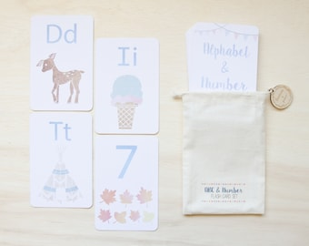 Alphabet & Number Flash Card Set