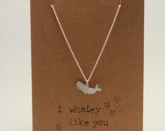 I Whaley Like You Silver Necklace