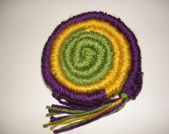 Mardi Gras Scarf - Fat Tuesday - Carnival - NOLA - New Orleans - French Quarter - Color Blocked - Green Purple Gold Scarf - Stickweave