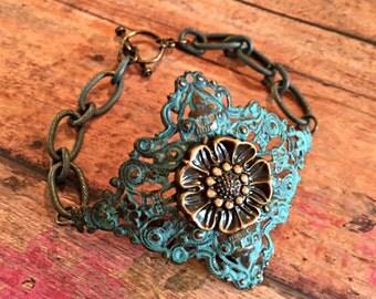 Turquoise Secret Garden Bracelet