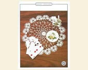 Genuine Vintage Petals Edging Table-Centre Doily Lacy Crochet Pattern PDF