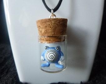 Glass bottle necklaces, glass bottle pendants