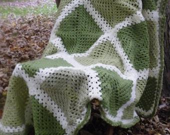 Crochet Blanket - Green