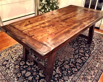 Craftsman-inspired dining table