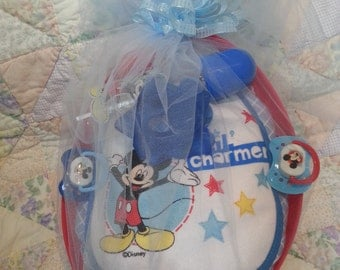 Mickey Mouse Diaper Cake/Care Package