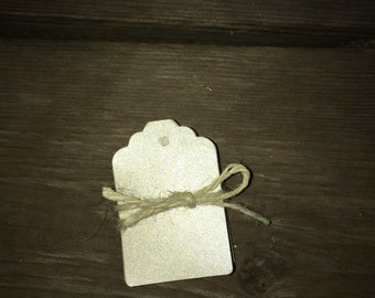 Wedding Shimmer Blank Cardstock Tags 50-Pack