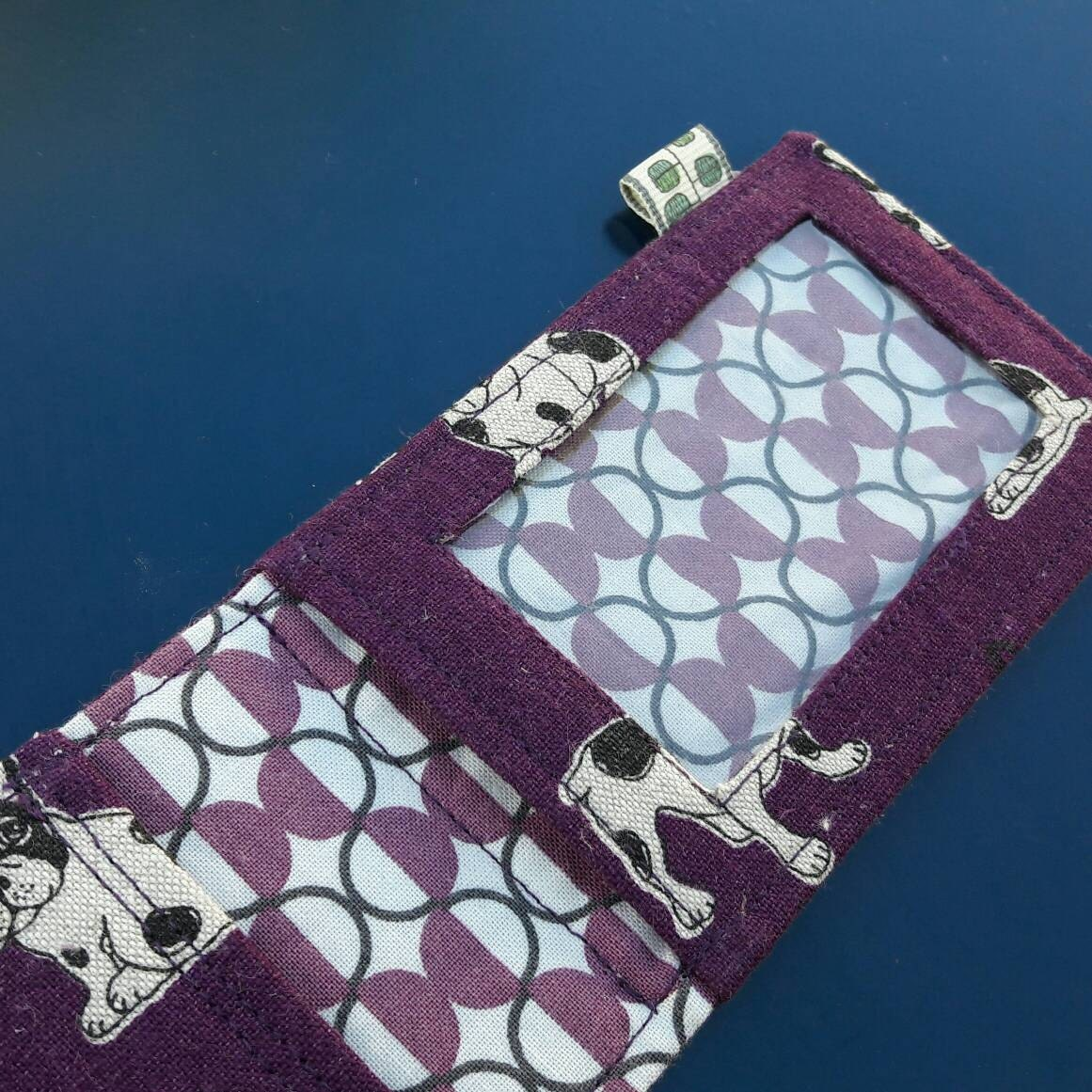 French Bulldog Oyster Card Wallet Business Card Holder