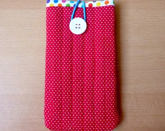 Red and white polka dot iPhone/ Smartphone/ Cell phone cover