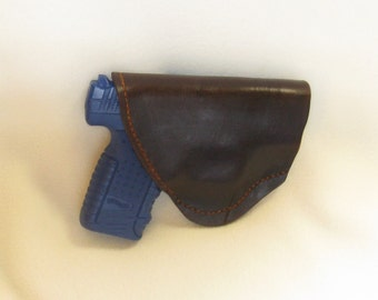 Fold over style all leather holster