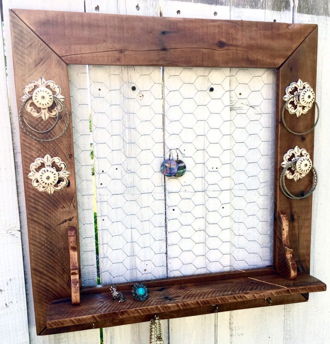 Jewelry Organizer Wall Jewelry Holder And Organizers On: Wall Jewelry Holder Wall Jewelry Organizer Rustic Necklace