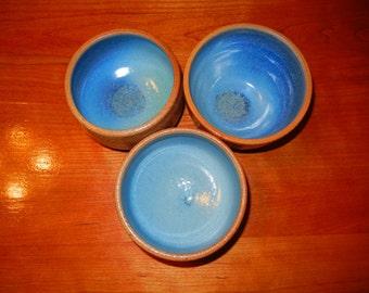 Set of Three Ice Cream Bowls