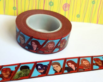 Washi Sample - Avengers Washi Sample - The Avengers Washi Sample - The Hulk Washi Sample - Captain America Washi Sample - Thor Washi Sample