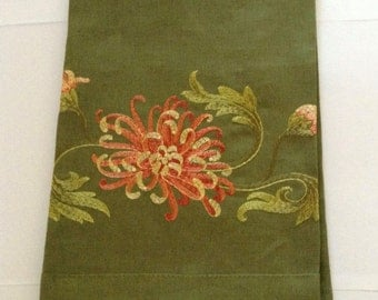 Fine Embroidered Linen Guest Towel by Anali