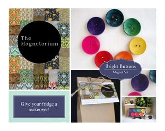 Bright Buttons Fridge Magnet Set