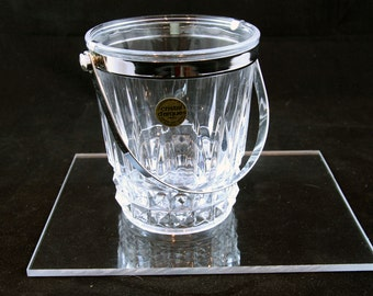 "1960s French lead crystal Ice Bucket ""Cristal d argues"""
