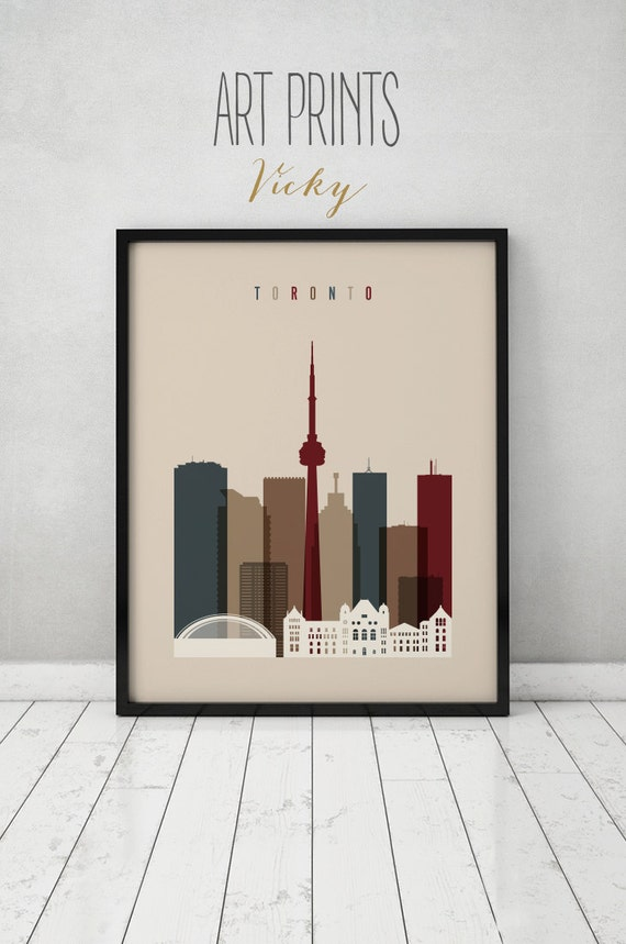 Toronto Skyline Toronto Wall Art Print Poster Canada