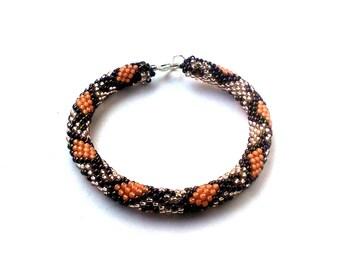 Snake Bracelet  Toho Crochet Beaded Jewelry Beadwork