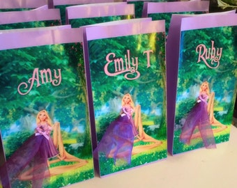 Personalised Tangled Rapunzel Party Favour Paper Loot Bag