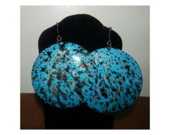Turquoise splatter Earrings