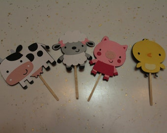 Cupcake Toppers- Farm Animals
