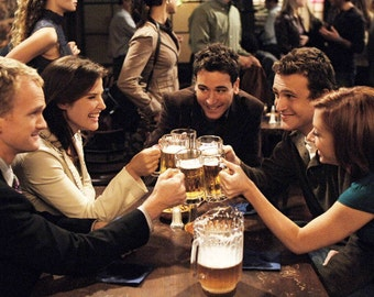 "How i met your mother TV Show Fabric poster 36"" x 24"""
