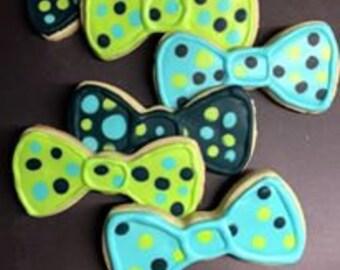 Bow Tie Iced Sugar Cookies