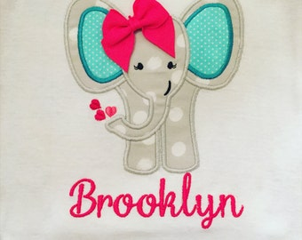 Elephant Applique Onesie