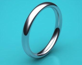 PLATINUM 2mm ladies Heavy weight court  /  2mm Wedding Band  / 2mm wedding Ring / 2mm platinum ring / eternity ring / hatton garden