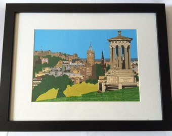 Edinburgh Skyline from Calton Hill Framed print