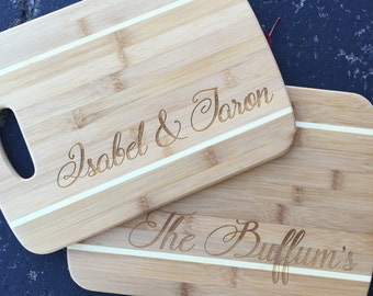 Bamboo Cutting Board, Personalized Cutting Board,Shower Gift,Wedding Gift,Anniversary Gifts,Housewarming Gift,Laser Engraved