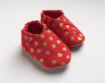 Valentine's Day Baby booties
