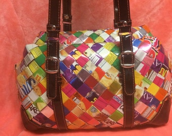 Zip-Up Candy Wrapper Purse.