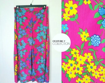 70s psychedelic Floral Skirt by Panther