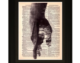"""Possibilities"""".Dictionary Art Print. Vintage Upcycled Antique Book Page. Fits 8""""x10"""" frame"""
