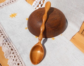 Original hand carved wooden spoon from cherry,wooden spoon,eating wooden spoon ,wooden spoons,spoon for soup,wooden kitchen utensils,spoon