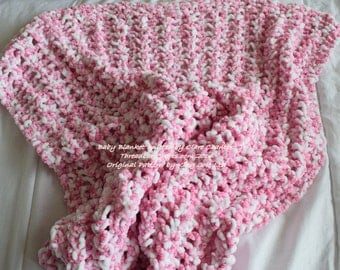 Raspberry Ripple Baby's Blanket