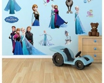 Large Frozen Elsa Anna Wall Stickers Decal Removable Home Decor Kids