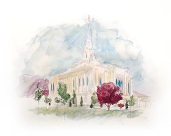Ogden Temple Print