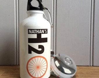 Personalised Cyclist's 'H2 O' Water Bottle
