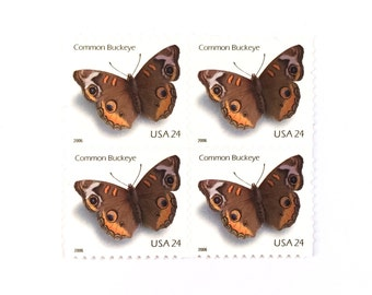 10 x Butterfly 24 cents UNused Common Buckeye US Postage Stamps Stamp - Butterflies - for invites, postcrossing, card making, collecting