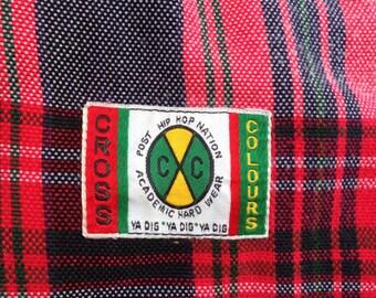 Rare vintage Cross colours hip hop brand short pant 80s 90s style