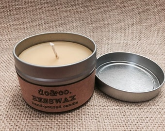 Beeswax candle, pure beeswax, tin candle, natural wax candle, candle, small candle, small tin candle
