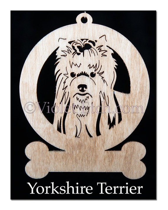 Yorkie-Yorkshire Terrier-Yorkshire Terrier Ornament-Yorkshire Gift-Free Personalization