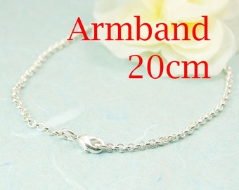 Bracelet silver plated 20cm or desired length extra type. 3211