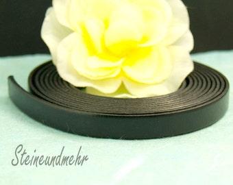 20cm leather band Black 10 mm wide kind. 3176