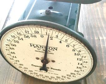 Vintage Antique Hanson Green Scale